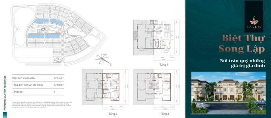 thiết kế biệt thự song lập