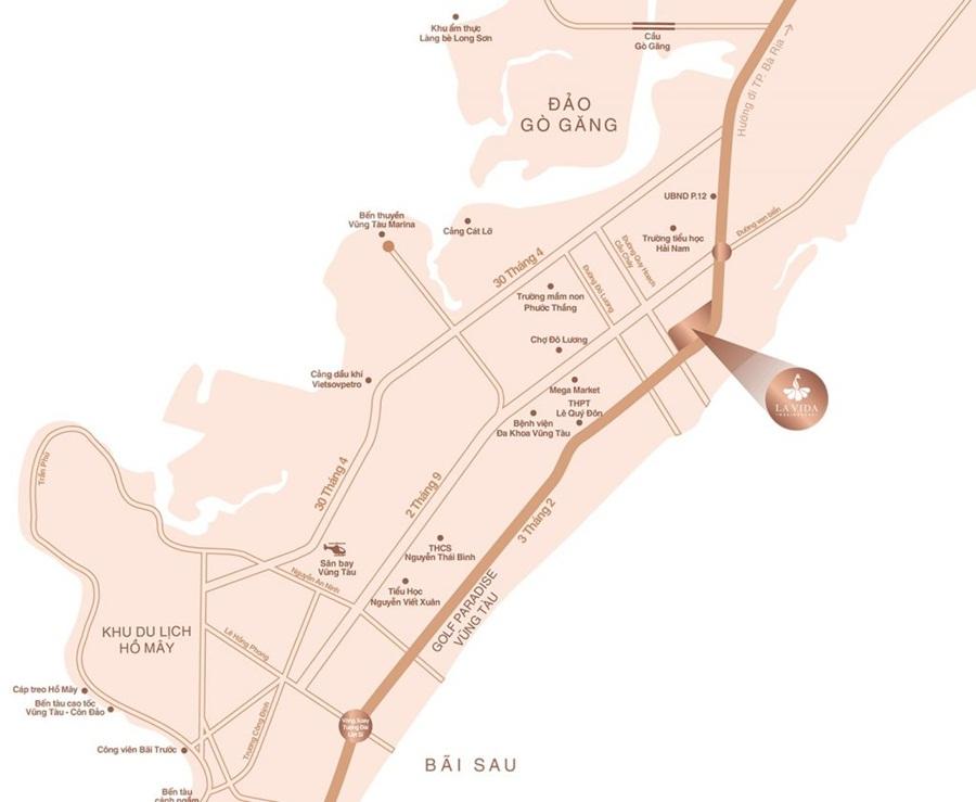 vị trí La Vida Residences Vũng Tàu