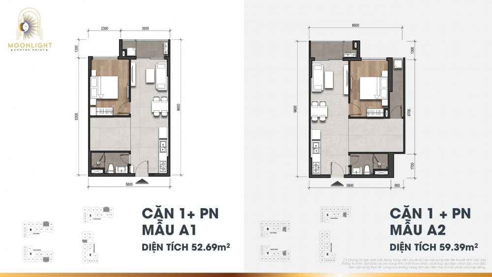 thiết kế căn 1 phòng ngủ