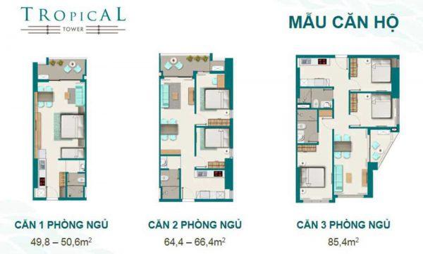 thiết kế mẫu căn hộ Tropical