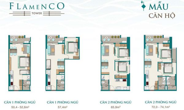thiết kế căn hộ Block Flamenco